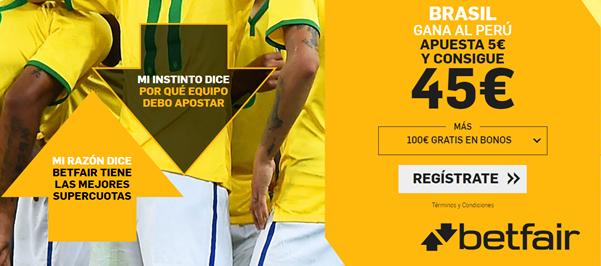 Brasil gana al Perú